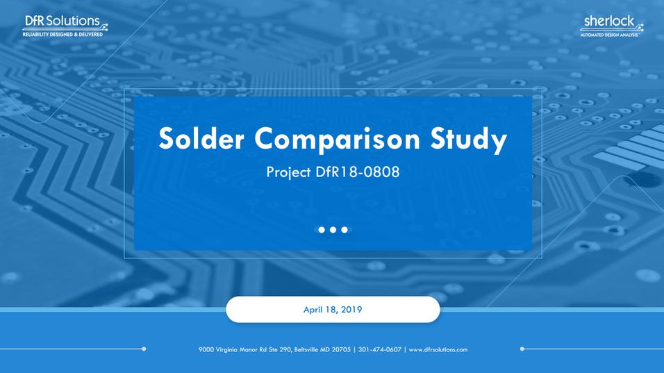 solder comparison study